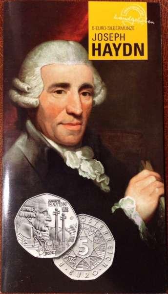 5 Euro Silber 2009 Haydn Blister ANK Nr.14b