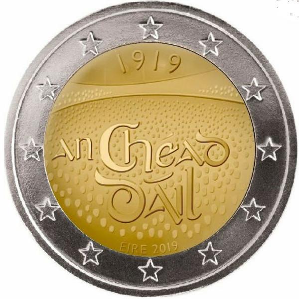 2 Euro Irland 2019 100. Jahrestag Versammlung in Dáil Éirea