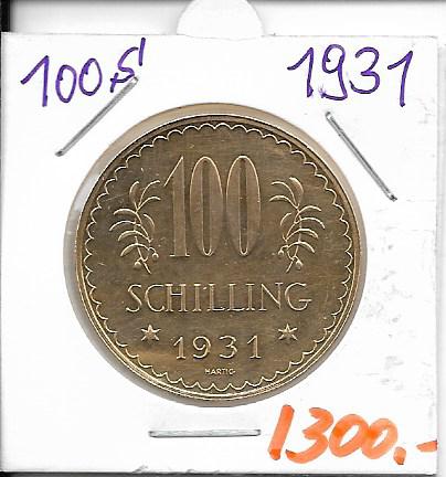 100 Schilling Gold 1931