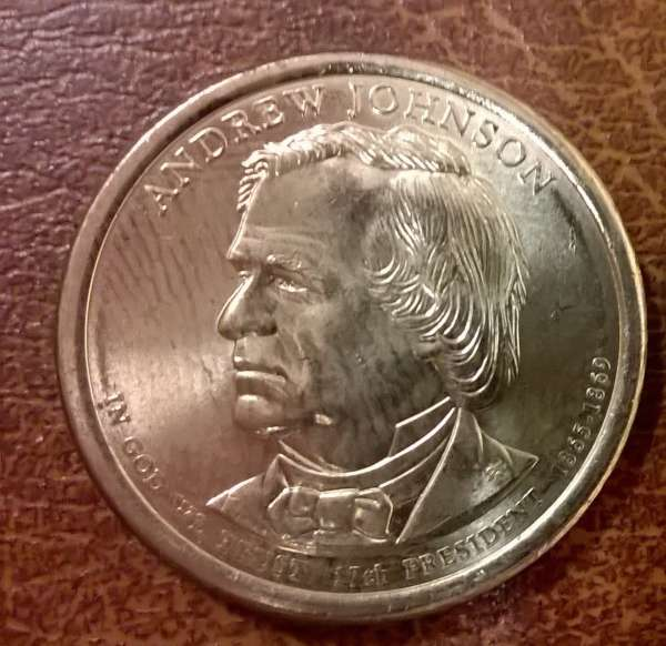 USA 1 Dollar 2011 P Andrew Johnson (17)