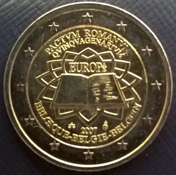 2 Euro Belgien 2007 Römische Verträge