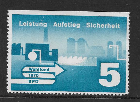 Parteispende SPÖ Wahlfonds 1970 5 Schilling