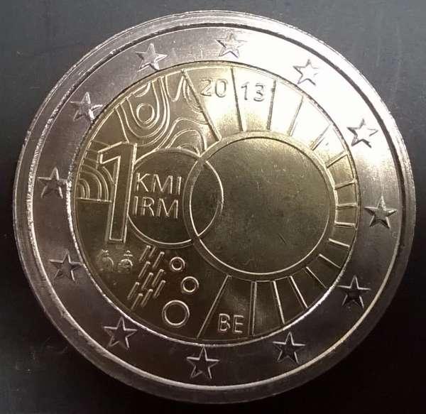 2 Euro Belgien 2013 100 Jahre Metreologisches Institut