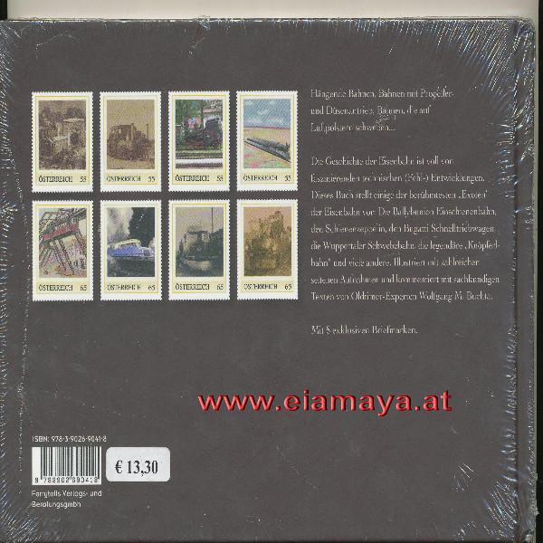 Briefmarkenbuch Exoten der Eisenbahn mit 8 exklusiven Marken