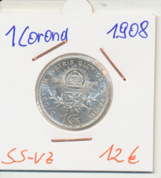 1 Krone 1908 60 jährigen Regierungsjubiläum