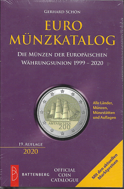 EURO MÜNZKATALOG: DIE MÜNZEN DER EUROPÄISCHEN WÄHRUNGSUNION 1999 - 2020, 19. AUFLAGE 2020