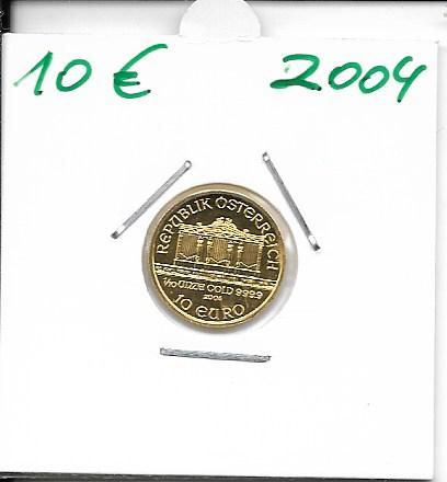 2004 Philharmoniker 1/10 Unze 10 € Euro 3,11 Gramm