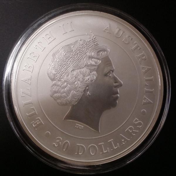 30 Dollars Australien 2011 1 Kilo Silber