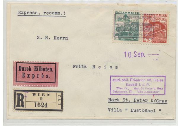 Österreichische Volkstrachten 10.9.1934 Reco.