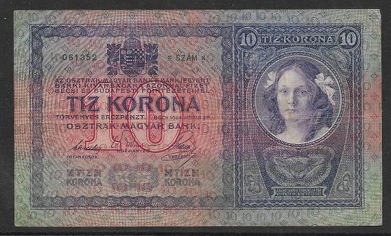 10 Kronen 2.1.1904 Ank155 Serie 2141-061352