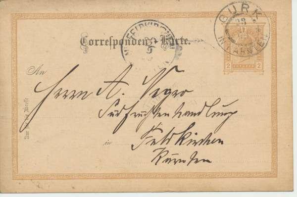 Correspondenz Karte Gurk in Kärnten 1899