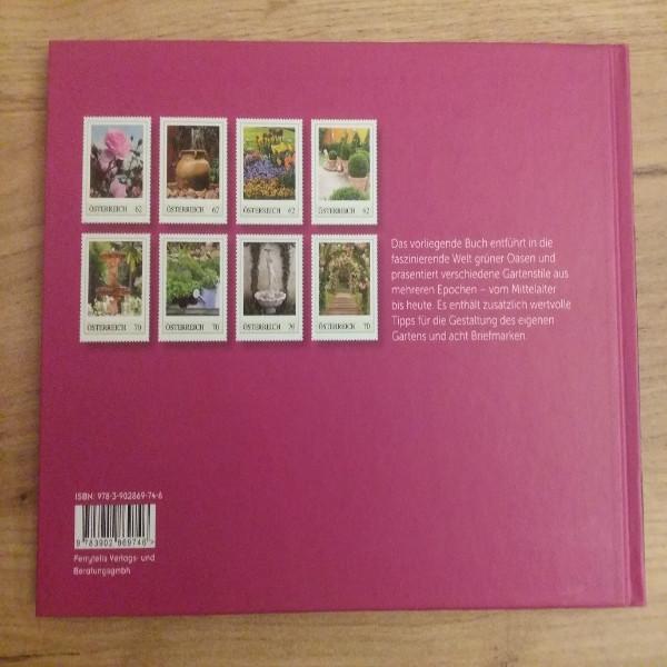 Briefmarkenbuch Faszination Garten mit 8 exklusiven Marken