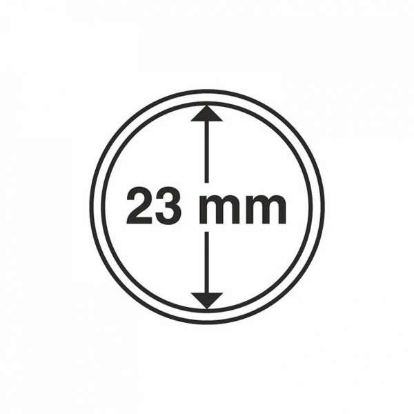 MÜNZKAPSELN CAPS 23 MM, 10 ER PACK