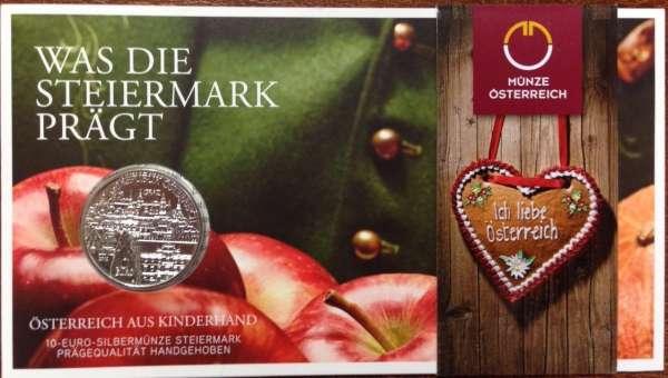 10 Euro Silber 2012 Die Steiermark HgH ANK Nr. 21