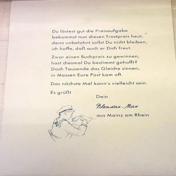Blendax Trostpreis Preisausschreiben 1955