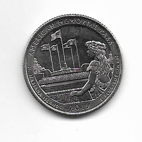 "USA 25 Cent 2019 S ""Beautiful Quarter - American Memorial Park"" - (47)"