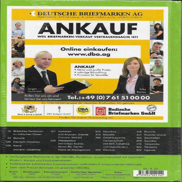 Michel Übersee Katalog Nr.4 Teil 2 Nordafrika 2017 40 Auflage