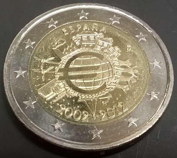 2 Euro Spanien 2012 10 Jahre Euro