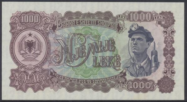 Albanien - 1000 Leki 1944 UNC - Pick 32