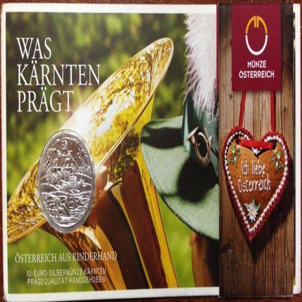 ÖSTERREICH 2012/2016 - Alle 10x 10 Euro in Silber, hgh - BUNDESLÄNDER Kinderhand