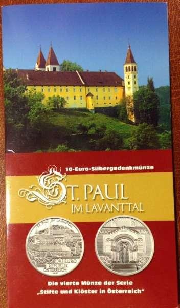 10 Euro Silber 2007 Stift St.Paul im Lavanttal HGH ANK Nr. 12