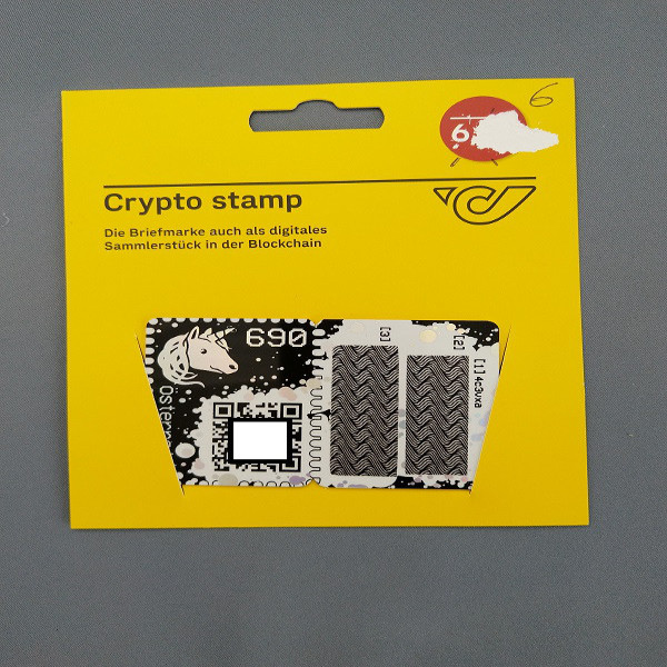 Österreich ANK Crypto Stamp - Blue Edition Blau/ first crypto stamp edition 6 stellig - Postfrisch
