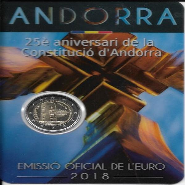 2 Euro Andorra 2018 25 Jahre Verfassung