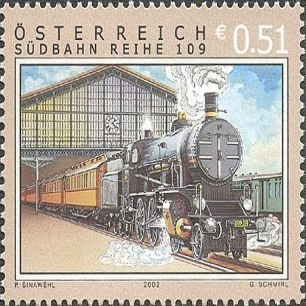 "ANK 2428 Eisenbahnen - ""Südbahn Reihe 109"" 0,51 €** 2002"