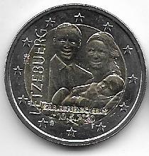 2 Euro Luxemburg 2020 Geburt von Prinz Charles - Relief