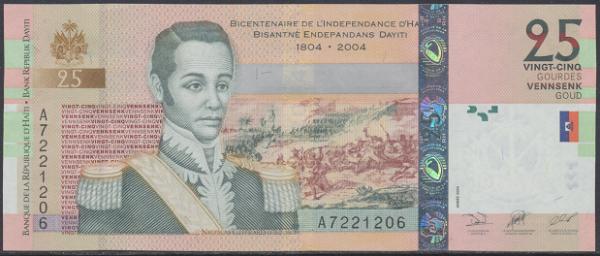 Haiti - 25 Gourdes 2004 UNC - Pick 273