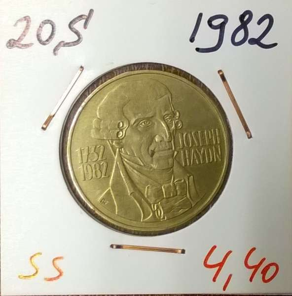 20 Schilling 1982 J.Haydn ss/vz