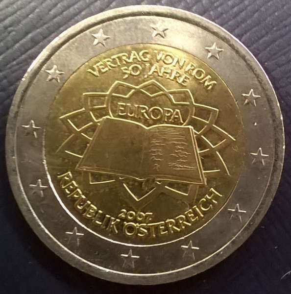 2 Euro Österreich 2007 Römische Verträge