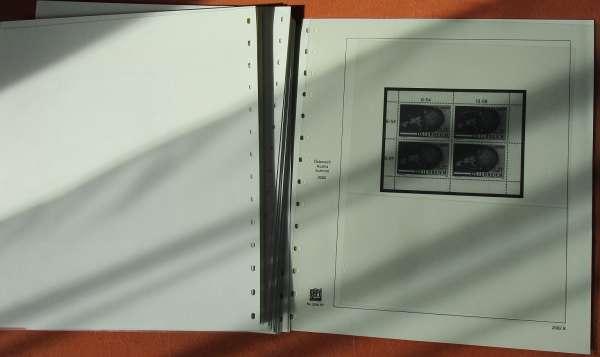 Safe Dual Nachtrag 2002 bis 2009 Kleinbögen gebraucht Blatt 2002 B bis 2009 D, 22 Blätter