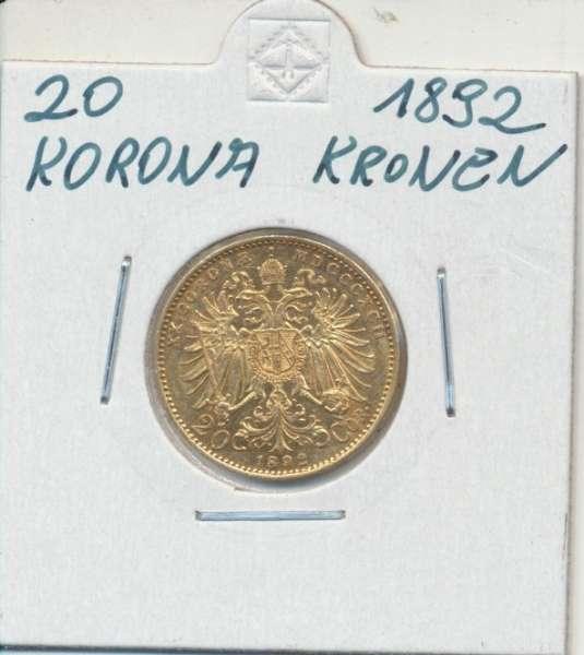 20 Kronen 1892 Franz Joseph I Gold