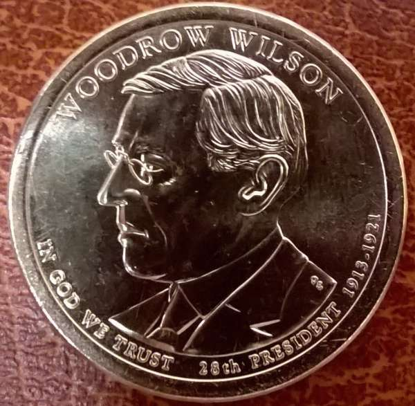 USA 1 Dollar 2013 P Woodrow Wilson (28)