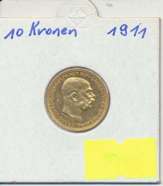 10 Kronen 1911 Franz Joseph I Gold mit St.Schwartz