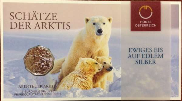 5 Euro Silber Abenteuer Arktis 2014 Blister ANK Nr.26a