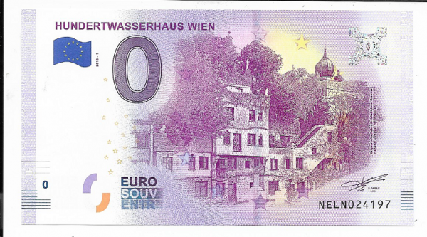 ANK.Nr.16 Hundertwasserhaus Wien Unc 0 Euro Schein 2018-1