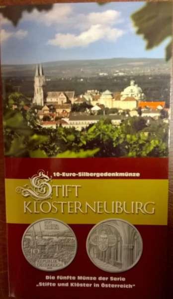 10 Euro Silber 2008 Stft Klosterneuburg HgH ANK Nr. 13