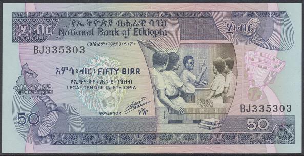 Äthiopien – 50 Birr () (Pick 44) Erh.