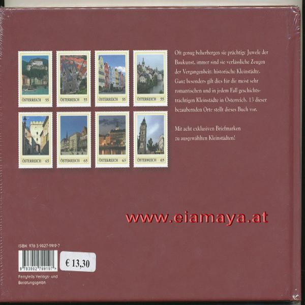 Briefmarkenbuch Historische Kleinstädte in Österreich mit 8 exklusiven Marken