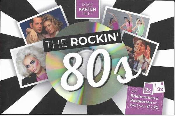 The Rockin 80s Postkartenheft mit 2 Marken