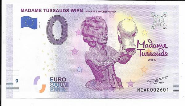 ANK.Nr.20 Madame Tussauds Wien Unc 0 Euro Schein 2019-1