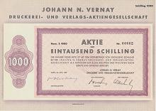 Aktie Vernay Druckerei Verlags- Aktie zu 1000 Schilling-1959