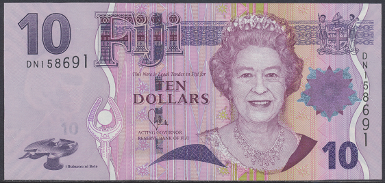 Fiji - 10 Dollars 2007-12 UNC - Pick 111