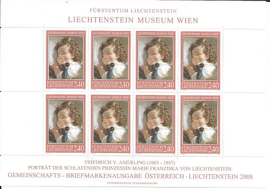 Liechtenstein - Kleinbogen Fürstentum Liechtenstein Museum Wien 2,4 Fr. 2008