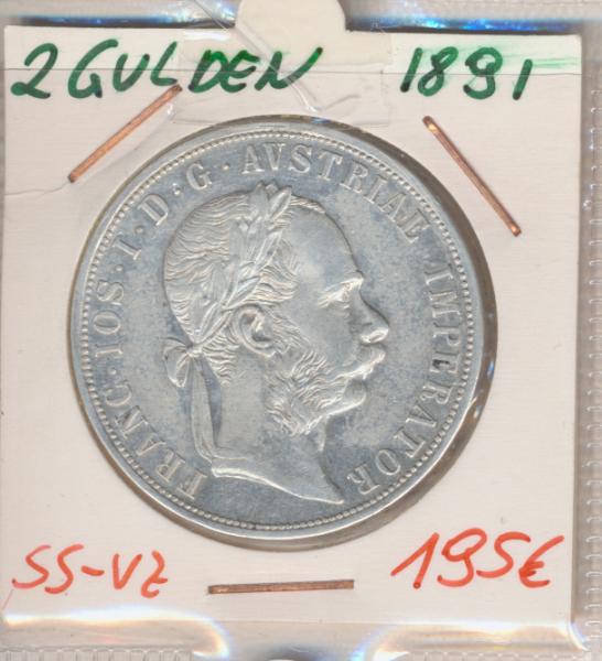 2 Gulden 1891 Silber Franz Joseph I