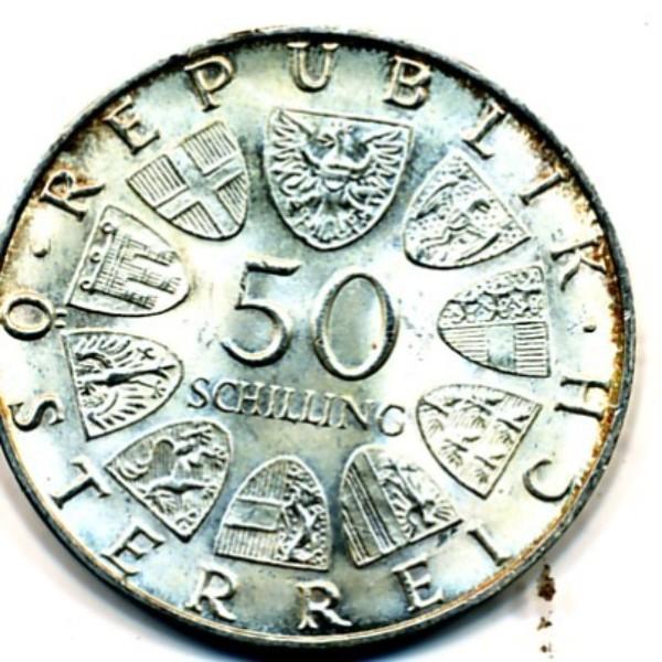 Wir kaufen an 50 Schilling 1959-73