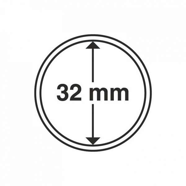 MÜNZKAPSELN CAPS 32 MM, 10 ER PACK