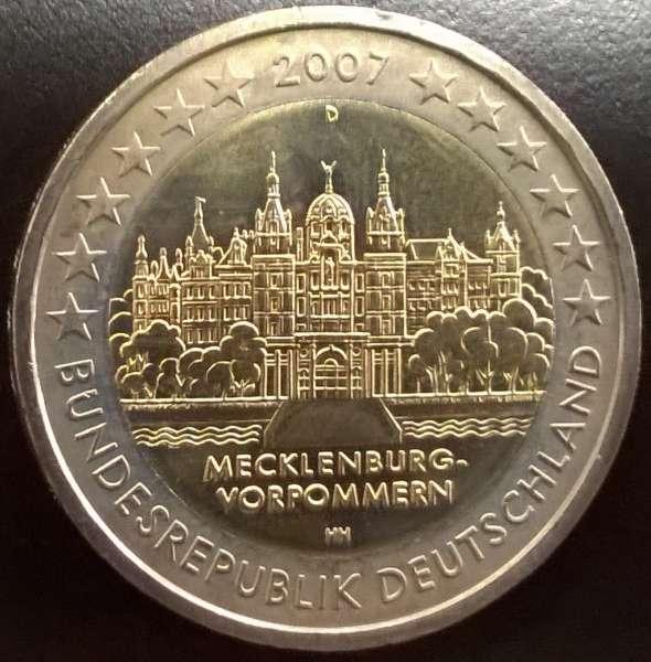 2 Euro Deutschland 2007 Mecklenburg Vorpommern